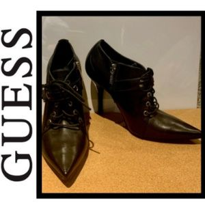 GUESS by Marciano Pointed Toe Heeled Ankle Booties